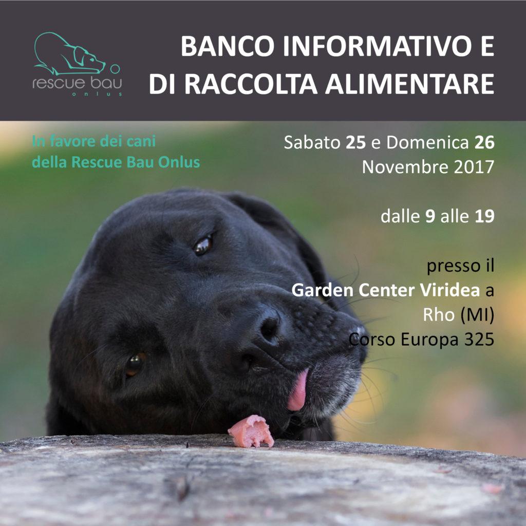 25 26 novembre 2017 colletta viridea rho rescue bau for Viridea rho orari